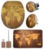 6-teiliges Badezimmer Set World Map