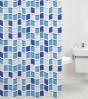 Duschvorhang Mosaik Blau 180 x 200 cm
