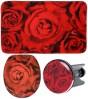 3-teiliges Badezimmer Set Rosen