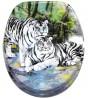 WC-Sitz Weiße Tiger