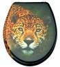 WC-Sitz Leopardenkopf