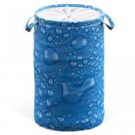 Wäschekorb Tautropfen Blau