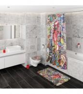 WC-Sitz mit Absenkautomatik Graffiti