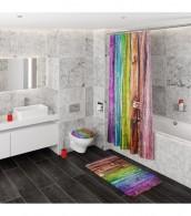 3-teiliges Badezimmer Set Rainbow