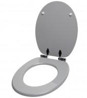 WC-Sitz mit Absenkautomatik Manhattan Grau