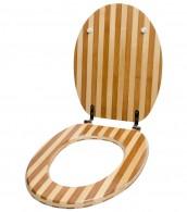 WC-Sitz Bambus Gestreift