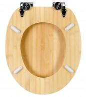 WC-Sitz mit Absenkautomatik Bambus