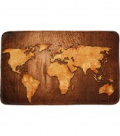 Badteppich World Map 70 x 120 cm