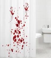 Duschvorhang Blood Hands 180 x 200 cm
