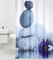 Duschvorhang Energy Stones 180 x 180 cm