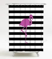 Duschvorhang Flamingo 180 x 180 cm