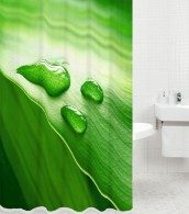 Duschvorhang Green Leaf 180 x 180 cm