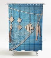 Duschvorhang Seefahrt 180 x 180 cm
