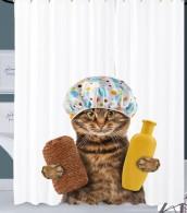 Duschvorhang Shower Cat 180 x 200 cm