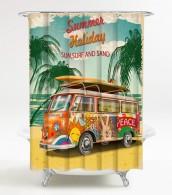 Duschvorhang Summer Bus 180 x 180 cm