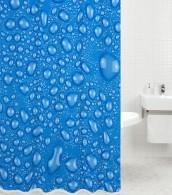 Duschvorhang Tautropfen-Blau 180 x 200 cm