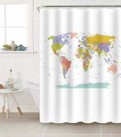 Duschvorhang Weltkarte 180 x 180 cm