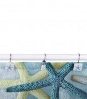 12 Duschvorhangringe Meeresbrise