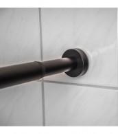 Duschvorhangstange Schwarz 120-220 cm