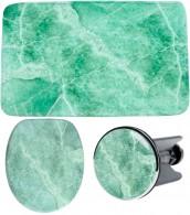 3-teiliges Badezimmer Set Marmor Grün