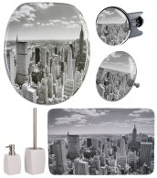 6-teiliges Badezimmer Set Skyline New York