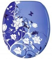 WC-Sitz mit Absenkautomatik Blumenzauber