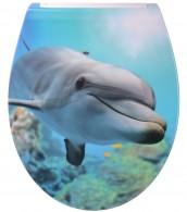 WC-Sitz mit Absenkautomatik Flat Delphin