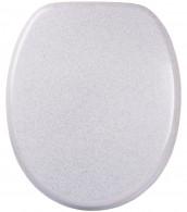 WC-Sitz mit Absenkautomatik Glitzer Weiß