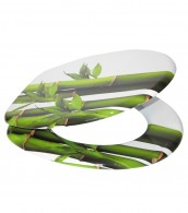 WC-Sitz mit Absenkautomatik Bambus Grün