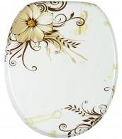 WC-Sitz mit Absenkautomatik Flower