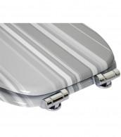 WC-Sitz mit Absenkautomatik Grey Stripes