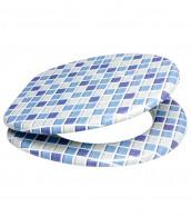 WC-Sitz Mosaik Blau