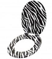 WC-Sitz mit Absenkautomatik Zebra Look