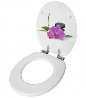 WC-Sitz mit Absenkautomatik Orchidee