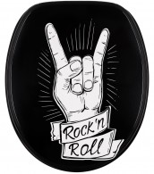 WC-Sitz mit Absenkautomatik Rock 'n' Roll
