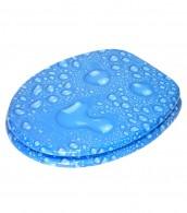 WC-Sitz mit Absenkautomatik Tautropfen Blau