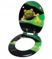 WC-Sitz mit Absenkautomatik Frosch Grün