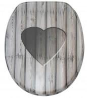 WC-Sitz Wooden Heart